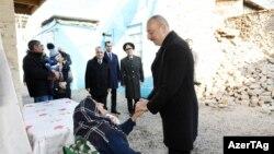 Prezident İlham Əliyev fevralın 7-də Şamaxıda zəlzələnin ziyan vurduğu yerlərə baş çəkib