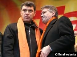 З Барысам Нямцовым падчас Аранжавай Рэвалюцыі