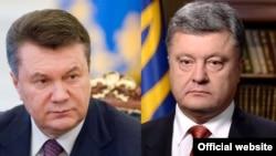 Віктор Янукович та Петро Порошенко (комбіноване фото)