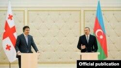 Միխեիլ Սաակաշվիլիի եւ Իլհամ Ալիեւի համատեղ ասուլիսը, Բաքու, 28-ը հունվարի, 2013թ.