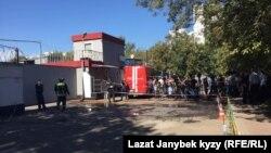 Типография в Москве, где при пожаре погибли 14 кыргызстанок. 27 августа 2016 года.