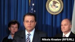 ԱՄՆ – Նյու Յորքի հարավային շրջանի դատախազ Պրետ Բհարարան ներկայացնում է հայկական հանցախմբի դեմ մեղադրանքները, արխիվ