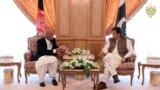 د افغانستان ولسمشر محمد اشرف غني او پاکستاني وزیر اعظم عمران خان په سعودي عرب کې. ۲۰۱۹، ۳۱مې