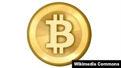 """Логотип виртуальной денежной единицы """"биткоин"""""""