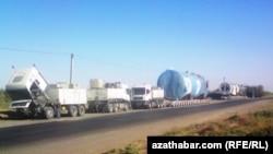 Транспорт для перевозки газа и стройматериалов, Йолотен (иллюстративное фото)