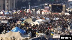 Митинг в центре Киева, 2 февраля 2014