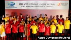 Азия-Тынық мұхиты экономикалық ынтымақтастығы ұйымы елдерінің саммитыне қатысып жатқан басшылар. Папуа - Жаңа Гвинея, 17 қараша 2018 жыл.