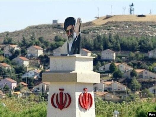 مجسمه آیتالله خامنهای در جنوب لبنان