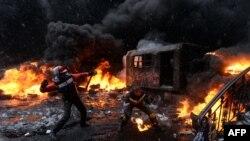Київ, вулиця Грушевського, 22 січня 2014 року