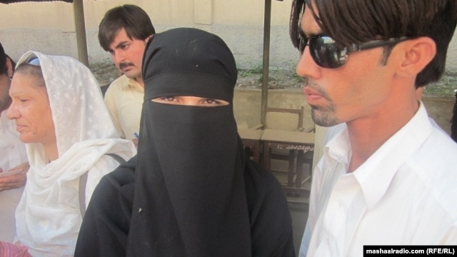 Uzma Ayub's brother, Alamzeb (right), was killed outside the court in 2011.