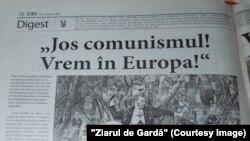 Ziarul de Gardă , ediția din 9 aprilie 2009 despre protestele de la Chișinău din 7 aprilie.