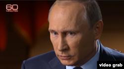 Президент России Владимир Путин дает интервью американскому телеканалу CBS.