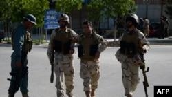 Forcat afgane para kompleksit të gjykatave