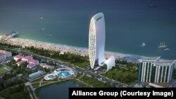 """""""ალიანს ჯგუფის"""" 54-სართულიანი ცათამბჯენის პროექტი"""