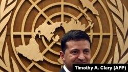 Президент Украины Владимир Зеленский в ООН, архивное фото