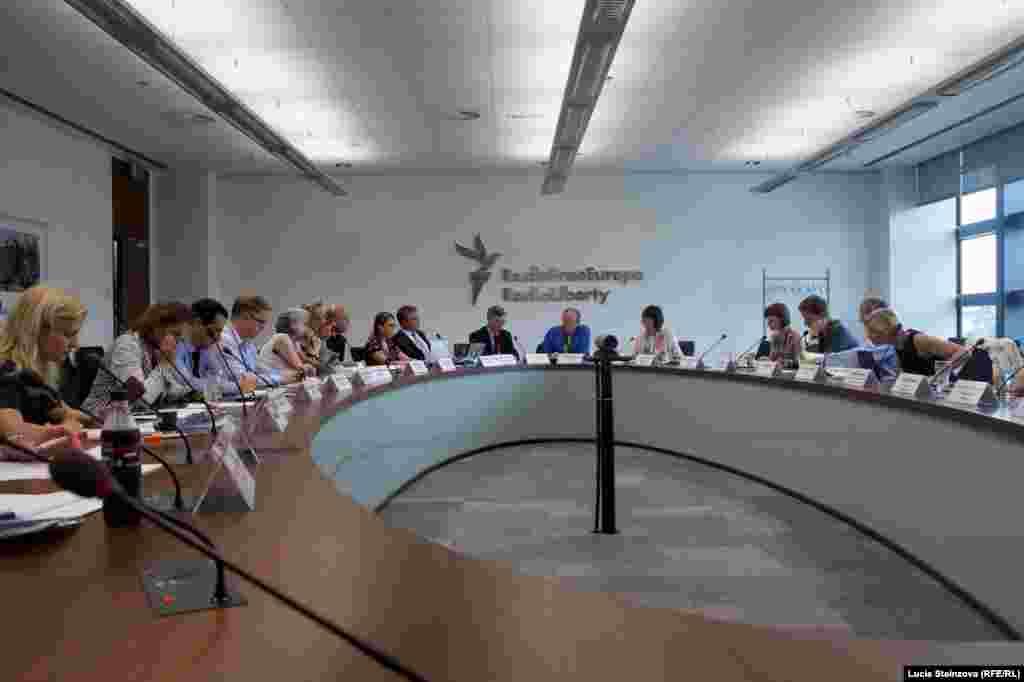 Czech Republic -- RFE/RL Headquaters, Meeting, Radio, BBG, VOA, Prague, July 21, 2014 - Working Meeting on Initiatives to Counter Russian Propaganda & Disinformation