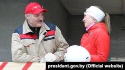 Аляксандар Лукашэнка і Дар'я Домрачава, архіўнае фота