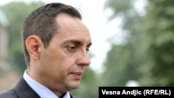 Serbian Labor Minister Aleksandar Vulin (file photo)