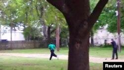 Polisin atəş açdığı videodan görüntü