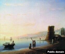 Айвазовський І. Пристань у Феодосії, 1840 р