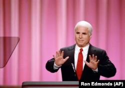John McCain addresses the Republican National Convention in New Orleans in August 1988.