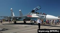 Расейскі самалёт «Су-30СМ» у Крыме, ілюстрацыйнае фота