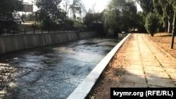 Реконструкция набережной Салгира, Симферополь, сентябрь 2019 года