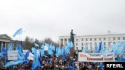 Антикризисно-предвыборный митинг в Симферополе собрал 5 тысяч крымчан