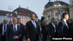 Romania - Presintele Klaus Iohannis și Donald Tusk, Președintele Consiliului European, Sibiu, 9 mai 2019