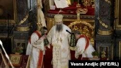 Устоличување на новиот патријарх на Српската православна црква Порфирије, Белград, 19 февруари 2021 година.