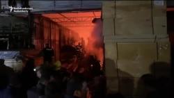 Fire Destroys Section Of Sprawling Baku Market