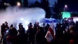 Протести і водомети біля будівлі ЦВК Грузії