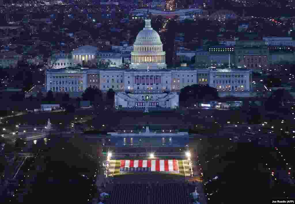 Здание Капитолия США подготовлено к церемонии инаугурации избранного президента Джо Байдена