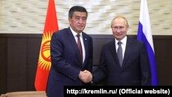 Сооронбай Жээнбеков жана Владимир Путин.