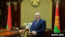 Александар Лукашенко присуствува на состанок со највисоки претставници во Минск, 26 јануари 2021 година