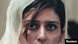 Новый министр иностранных дел Пакистана Хина Раббани Хар. Исламабад, 23 июня 2011 года.