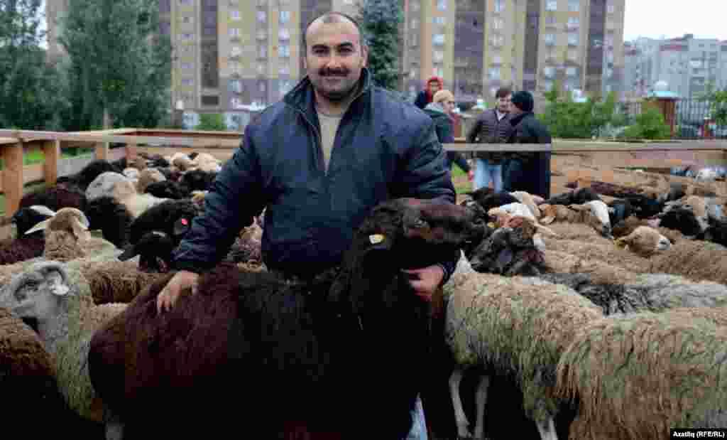 A livestock merchant in Kazan, Tatarstan