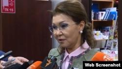 Дариға Назарбаева, парламент сенаты халықаралық қатынастар, қорғаныс және қауіпсіздік комитетінің төрайымы. Астана, 1 наурыз 2018 жыл.