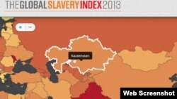 Карта, составленная авторами рейтинга мирового рабства Global Slavery Index 2013.