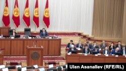 Зал заседаний Жогорку Кенеша.