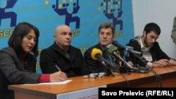 Konferencija na kojoj su najavljeni protesti u Podgorici
