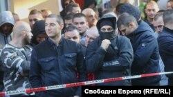 Протестиращи в подкрепа на кандидатурата на Иван Гешев за главен прокурор