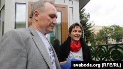 Уладзімер Някляеў і Марына Адамовіч