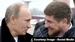 Chechen leader Ramzan Kadyrov (right) asked Russian President Vladimir Putin (left) in late 2015 to expedite the handover of the state company Chechenneftekhimprom, which controls Chechnyan oil-sector infrastructure (file photo).