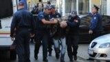 Crnogorska policija privodi osobe osumnjičene za pokušaj državnog udara, Podgorica, oktobar 2016.