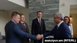 Սերժ Սարգսյանը հանդիպում է ԵՏՄ երկրների կենտրոնական բանկերի ղեկավարների հետ, Դիլիջան, 24-ը սեպտեմբերի, 2015թ․