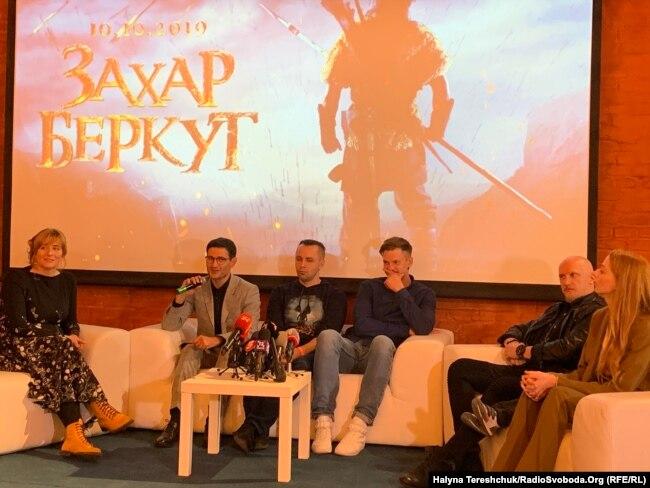 Під час презентації фільму «Захар Беркут» у Львові, 7 жовтня 2019 року