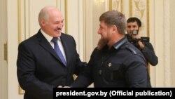 Аляксандар Лукашэнка і Рамзан Кадыраў у Менску