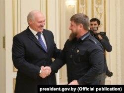 Александр Лукашенко и Рамзан Кадыров в Минске, сентябрь 2017-го