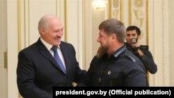 Аляксандар Лукашэнка і Рамзан Кадыраў у Менску, 25 верасьня 2017